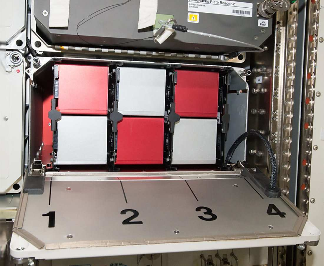Space Tango's module on the International Space Station features multiple