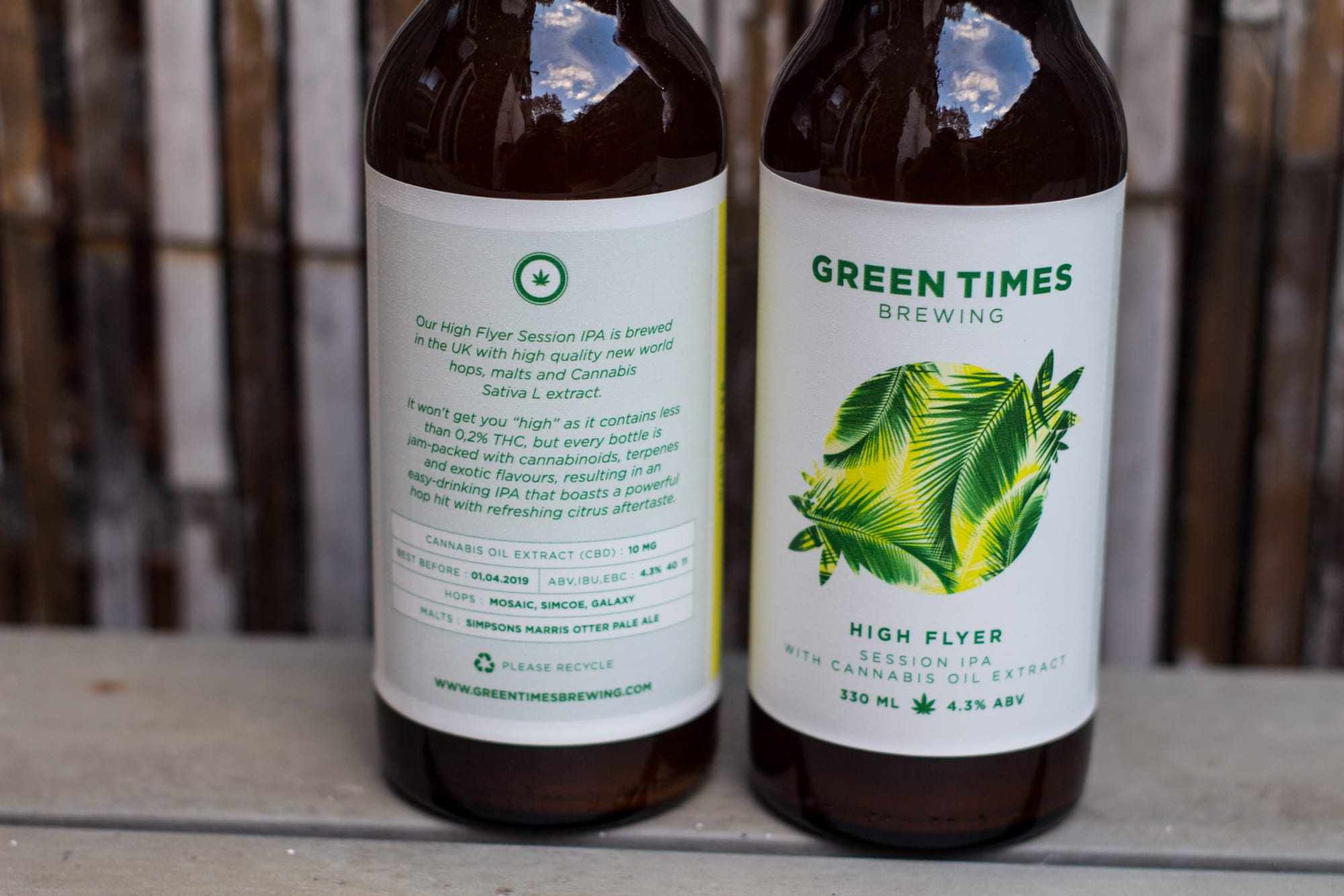 A close up of the Green Times