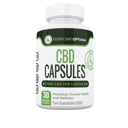 Every Day Optimal Pure CBD Oil Capsules (Ministry of Hemp Top CBD Capsules)