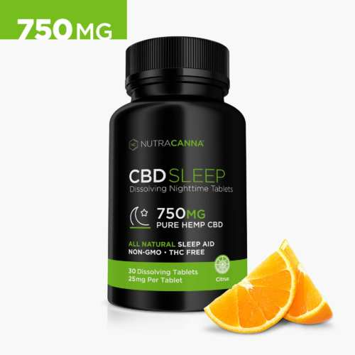NutraCanna CBD Dissolvable Tablets, with Melatonin (Ministry of Hemp Top CBD Capsules)