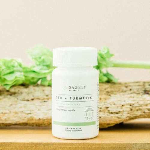 Sagely Naturals Relief & Recovery CBD Capsules, with Turmeric (Ministry of Hemp Top CBD Capsules)