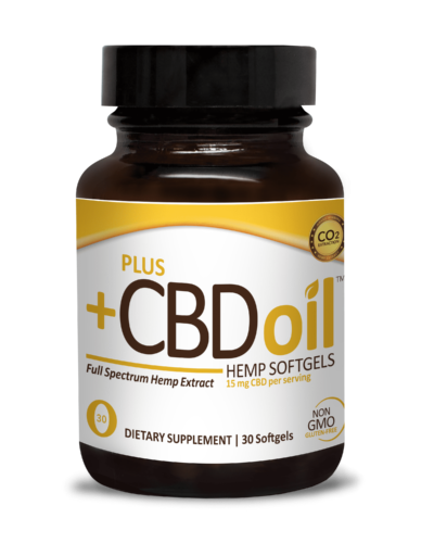 PlusCBD Oil Gold Formula Softgels (Ministry of Hemp Top CBD Capsules)