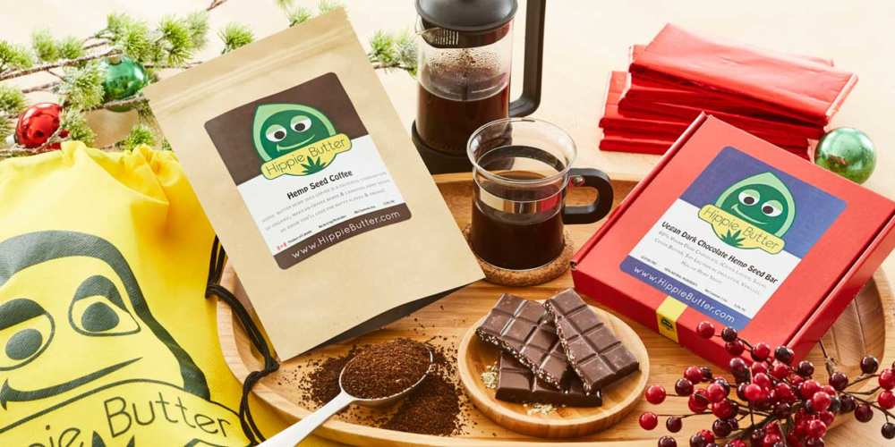Hippie Butter Hemp Coffee & Chocolate Gift Set (Ministry of Hemp 2018 Holiday Hemp & CBD Gift Guide)