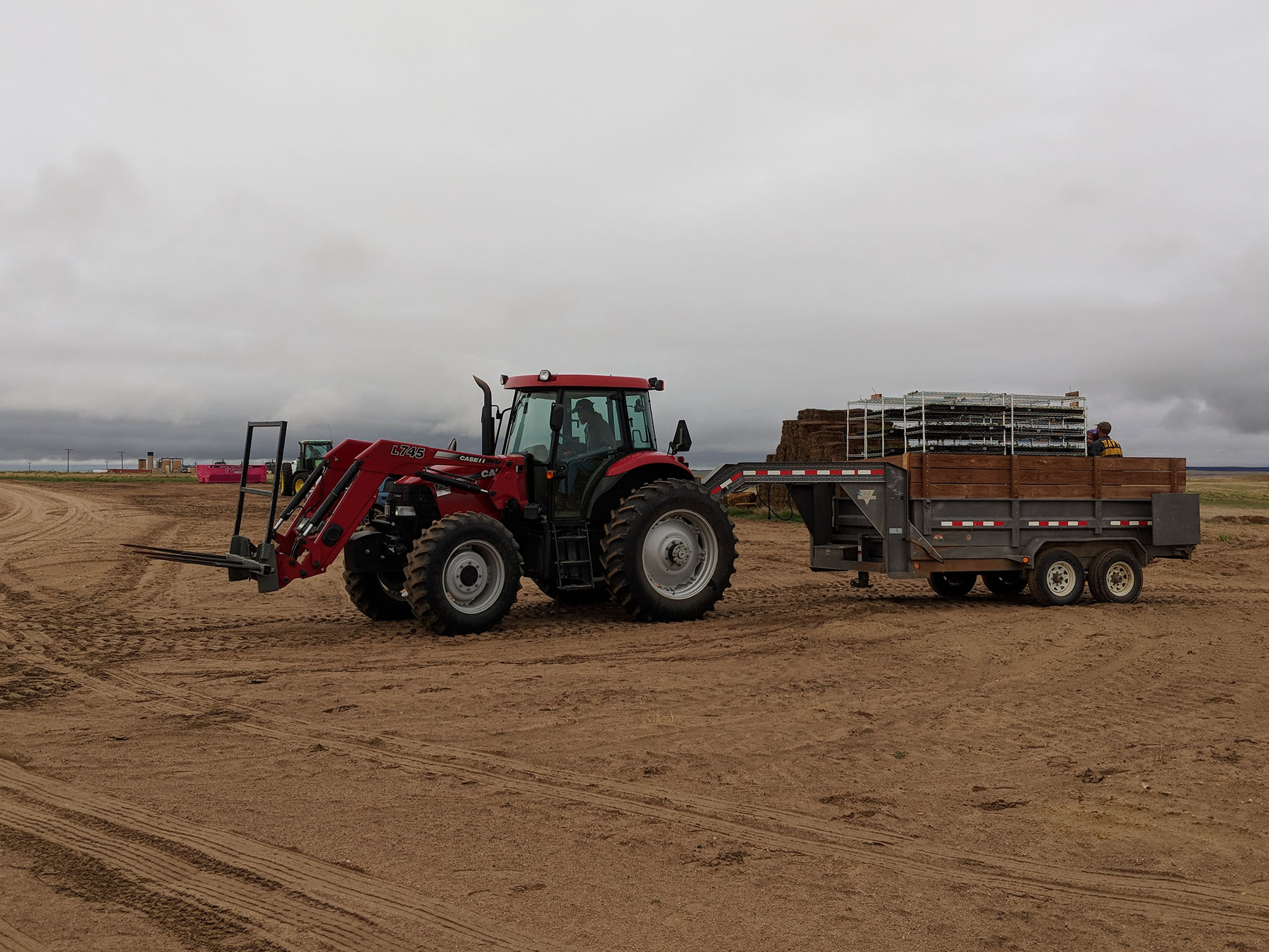 Planting hemp on NCHPP farmland.