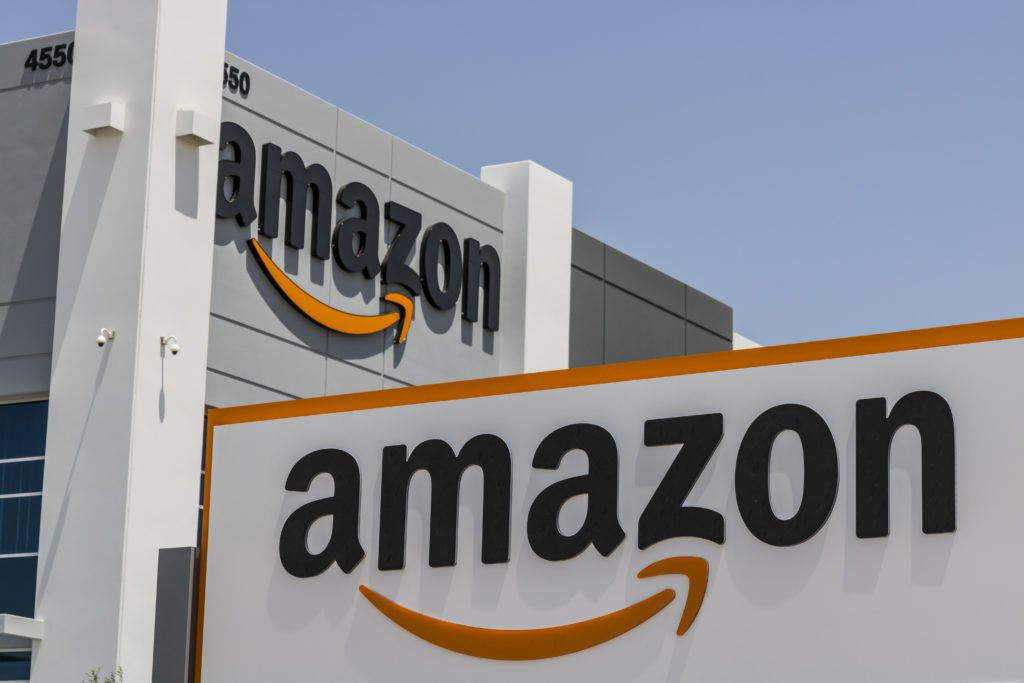 Buying CBD on Amazon is a bad idea, in part because Amazon formally bans CBD sales. Photo: The exterior of an Amazon fulfillment center.