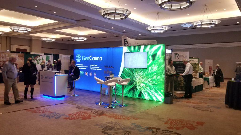 CBD is predicted to become a billion dollar industry in 2019, and the CBD boom was very visible at this year's Hemp Industries Association Conference. Photo: The expo floor at the 2019 Hemp Industries Association Conference.