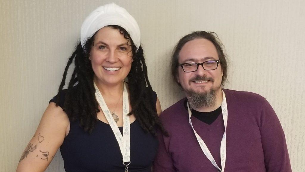 Joy Beckerman, president of the Hemp Industries Association (left), poses with Kit O'Connell, Editor in Chief of Ministry of Hemp.