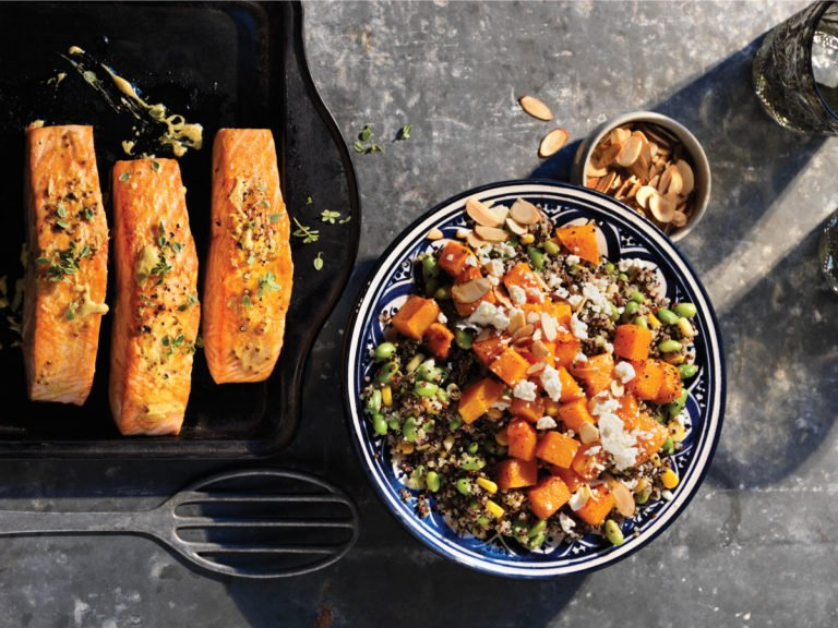 Healthy Weeknight Dinner Recipe   Roasted Salmon and Quinoa