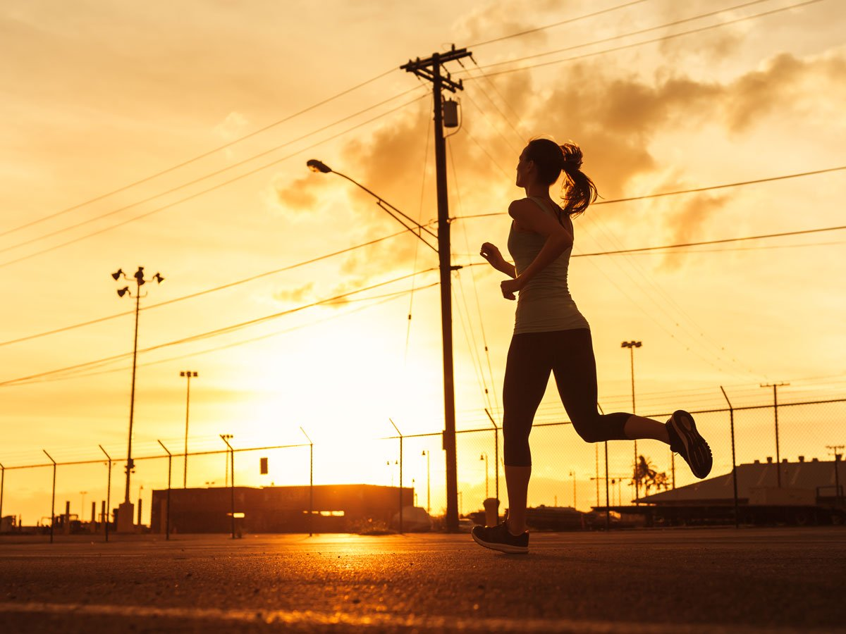 weight loss facts - woman running