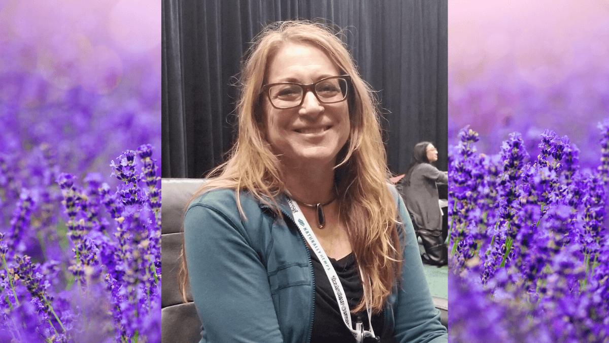 Dr. Susan Trapp, one of the top experts on terpenes visited the Ministry of Hemp podcast. Photo: Susan Trapp against a backdrop of lavender, a source of the terpene linalool.