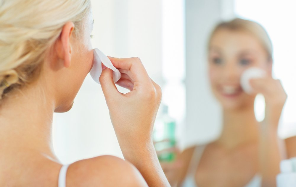skin care reactions | woman taking care of skin