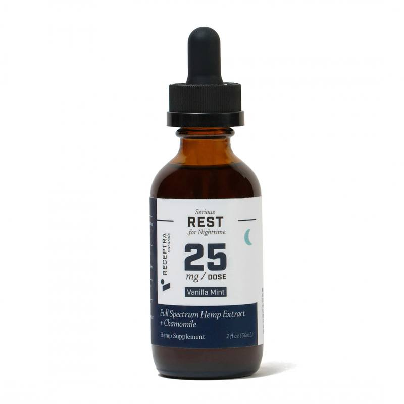 Receptra Naturals Serious Rest 25 Tincture (Ministry of Hemp Official Review)