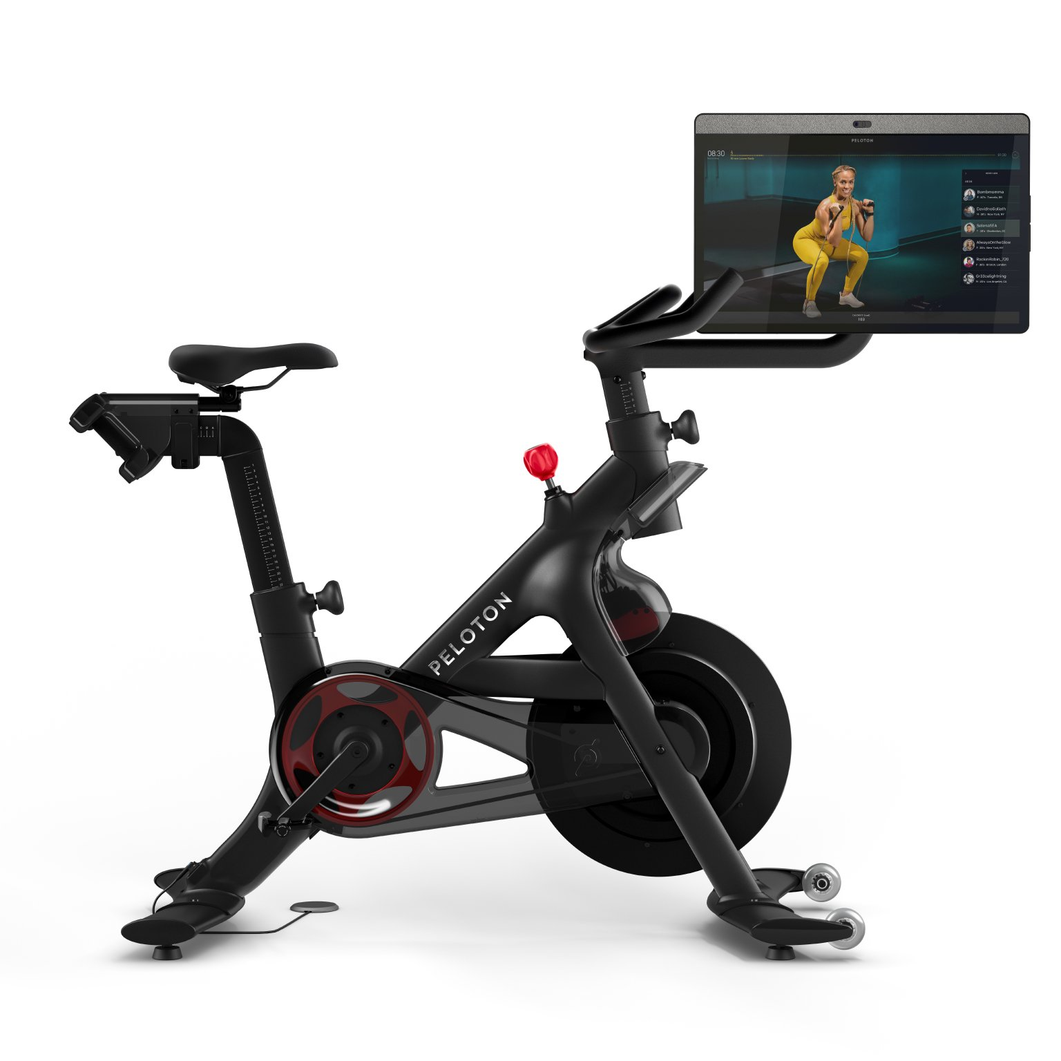 peleton bike+ review canada | image of the peleton with rotating screen