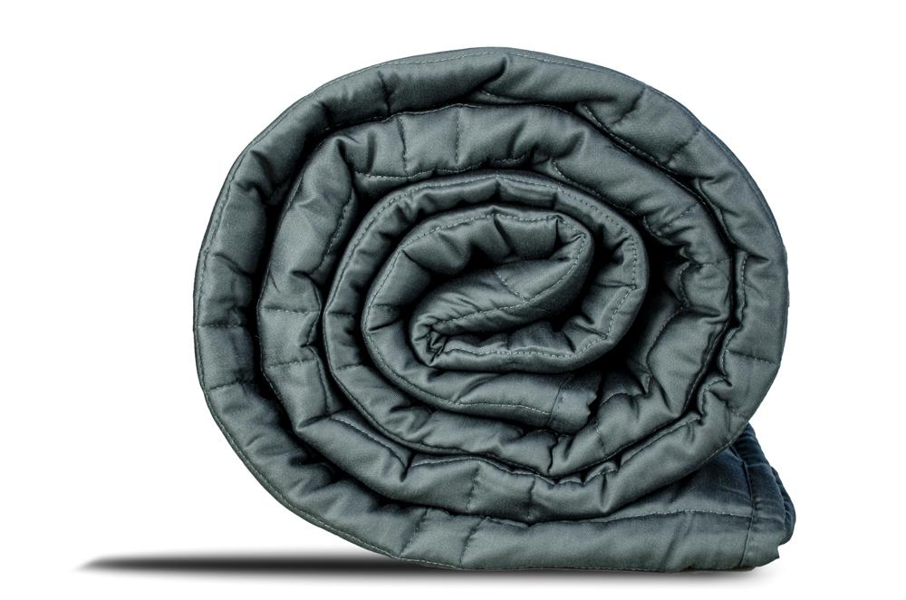 weighted blanked | gravid's weighted blanket rolled up | can a weighted blanket help with anxiety?