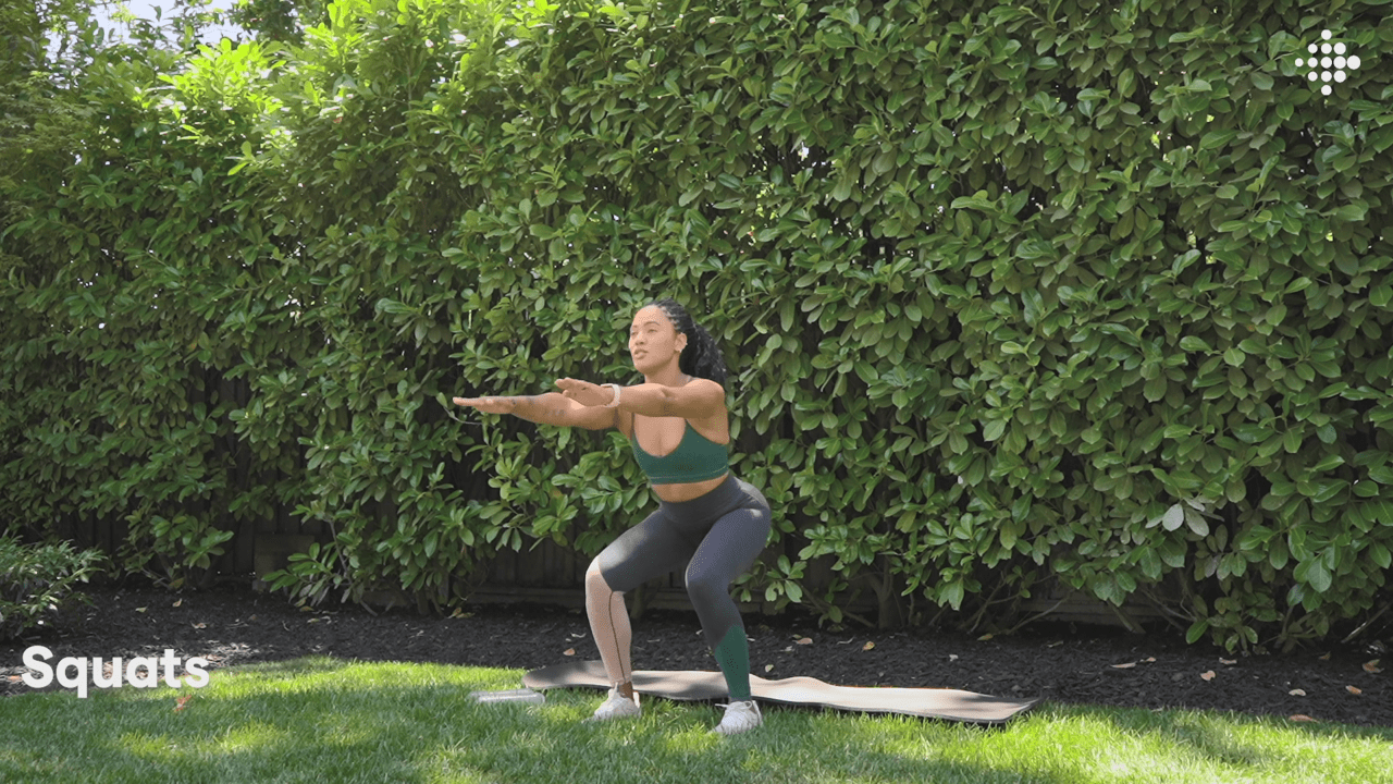 Ayesha Curry squats