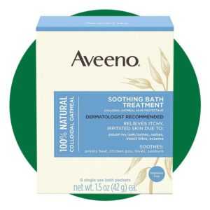 Aveeno Soothing Bath Treatment With 100% Natural Colloidal Oatmeal